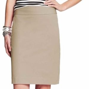 banana republic | tan sloan pencil skirt sz 4